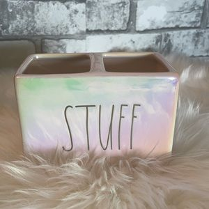 Rae Dunn iridescent STUFF holder